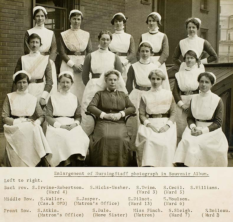 UCH Nurses League with Miss Dora Finch