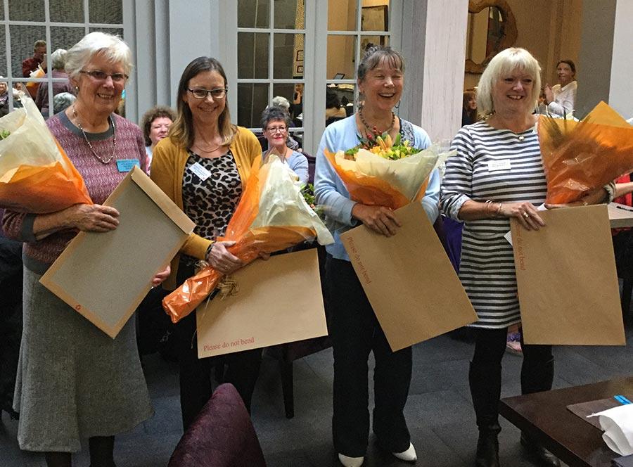 Ann Redmayne, Judith Jackson, Sian Lavers and Karen Lloyd